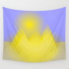 The three pyramids in the sun Wall Tapestry