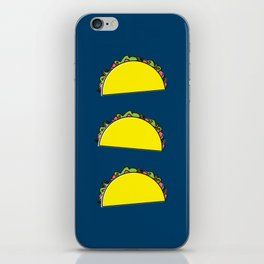 omg tacos! on navy iPhone Skin