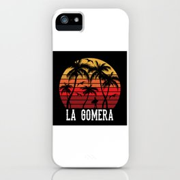 La Gomera Palm Tree Holiday Motif Gift Idea Design iPhone Case