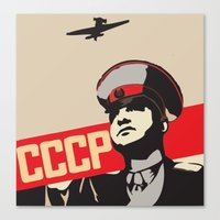 soviet Canvas Prints featuring SOVIET RED ARMY by Sofia Youshi
