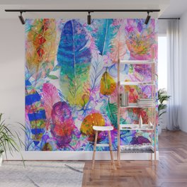 spring feathers Wall Mural