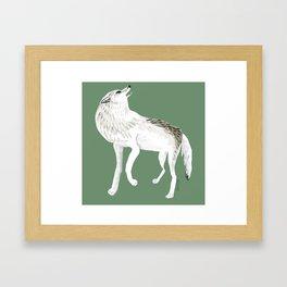 Totem Alaska tundra wolf Framed Art Print