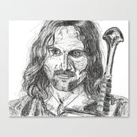 aragorn Canvas Prints featuring Aragorn by Mona Guilbeault