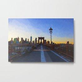 Brooklyn Bridge Impressions Metal Print