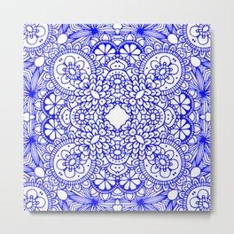Mindful Mandala Pattern Tile MAPATI 41 Metal Print