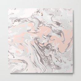 Effect Marble pink Metal Print