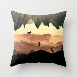 Dante's Inferno: Circle of Gluttony Throw Pillow