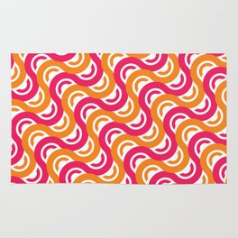 refresh curves and waves geometric pattern Rug