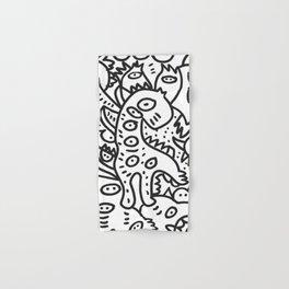 Cool Graffiti Art Dinosaur Black and White  Hand & Bath Towel