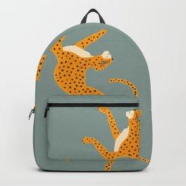 Leopard Race - blue Backpack