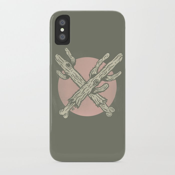 Crossed up Cactus iPhone Case