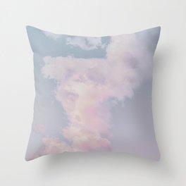 cotton candy skies vii Throw Pillow