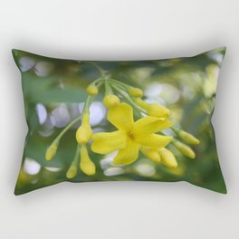 Close Up Of Carolina Jasmine Rectangular Pillow