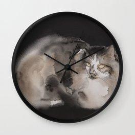 Long fur cat Wall Clock