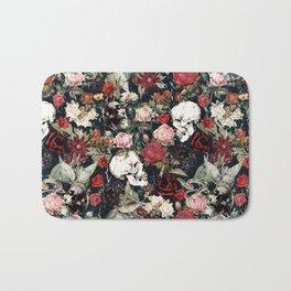 Vintage Floral With Skulls Bath Mat