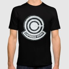 Capsule Corp. MEDIUM Black Mens Fitted Tee