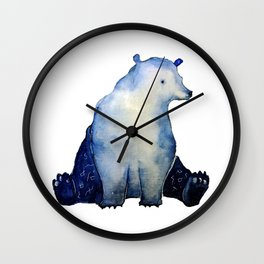 blue bear Wall Clock
