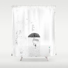 not right Shower Curtain