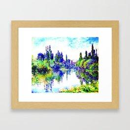 Claude Monet - Morning on the Seine, near Vetheuil 1878 Framed Art Print