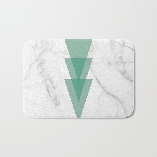 Marble Scandinavian Design Geometric Triangle Bath Mat