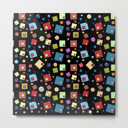Texture 011... Squares... 3 Metal Print