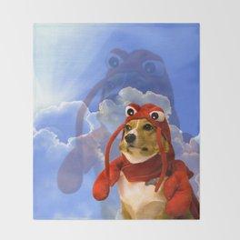 Lobster Corgi Throw Blanket