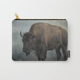 Stormy Day - Buffalo - Wildlife Carry-All Pouch