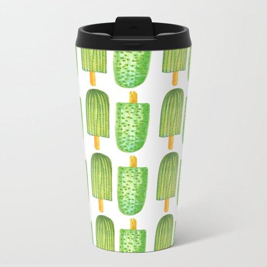 Cactus Popsicles Pattern #society6 #decor #buyart Metal Travel Mug