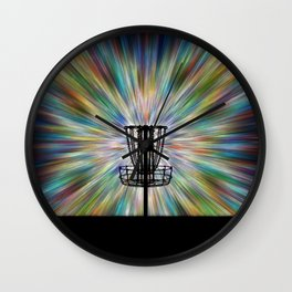 Disc Golf Basket Silhouette Wall Clock