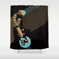 engineer Shower Curtains featuring The Engineer by Florey