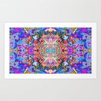 trippy Art Prints featuring TRIPPY by IZZA