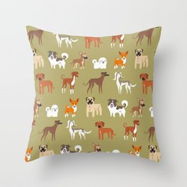 AFRICAN DOGS Throw Pillow