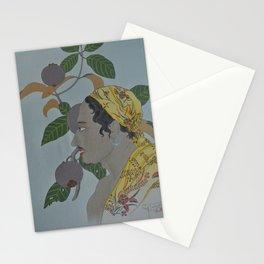 1935 Paul Jacoulet Japanese Woodblock Print Homme De Menado Et Mangoustans Stationery Cards