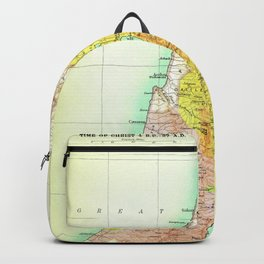Old 27AD Christ Palestine Map Backpack