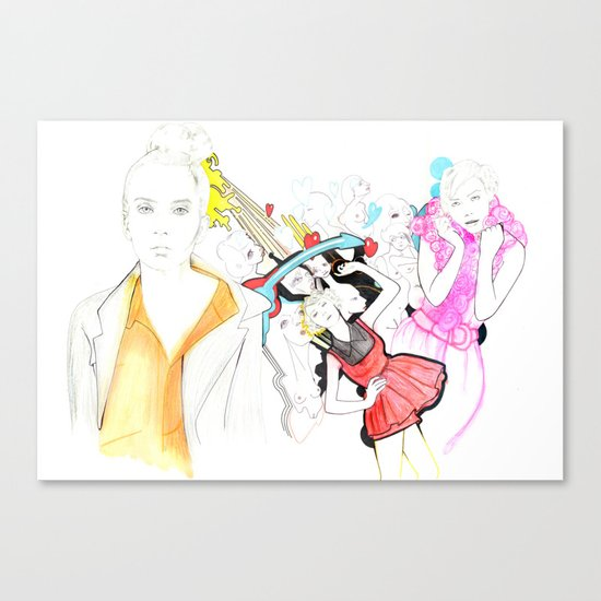 Whe love Fashion Canvas Print
