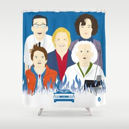 1985 (Faces & Movies) Shower Curtain