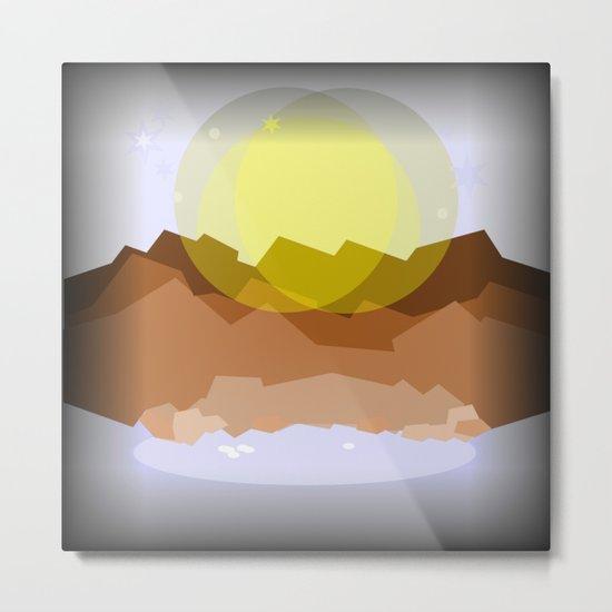 Midnight magical mountain Metal Print