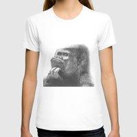 gorilla T-shirts featuring Gorilla by Nasir Nadzir