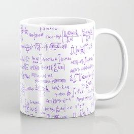 Purple Math Equations Coffee Mug