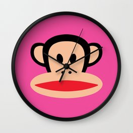 Julius Monkey by Paul Frank - Pink Wall Clock
