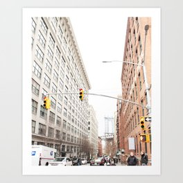 WHEN IN BROOKLYN Art Print