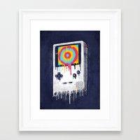inside gaming Framed Art Prints featuring Gaming by Ronan Lynam