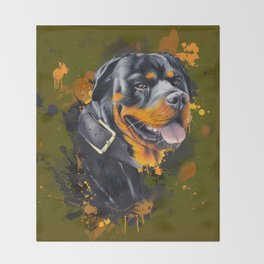 Rottweiler Throw Blanket