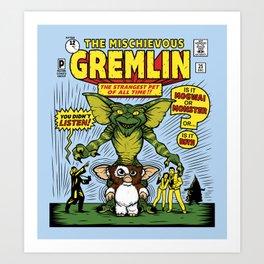 The Mischievous Gremlin Art Print