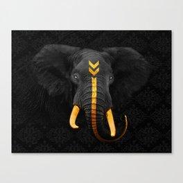 Elephant King Canvas Print