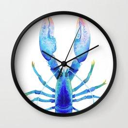 Blue Lobster № 2 Wall Clock