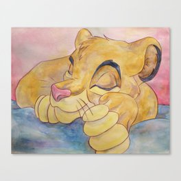 Sleeping Lion Cub - Simba Canvas Print