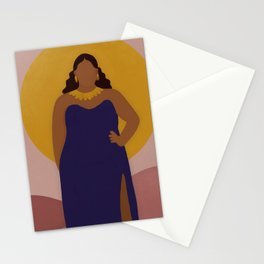 Lady in Gold Stationery Cards