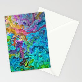 355 - Abstract garden design Stationery Cards