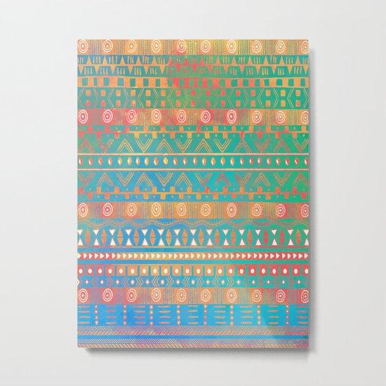 Inspired Aztec Pattern 2 Metal Print
